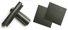 Ferrite magnetic fabric and absorbing material