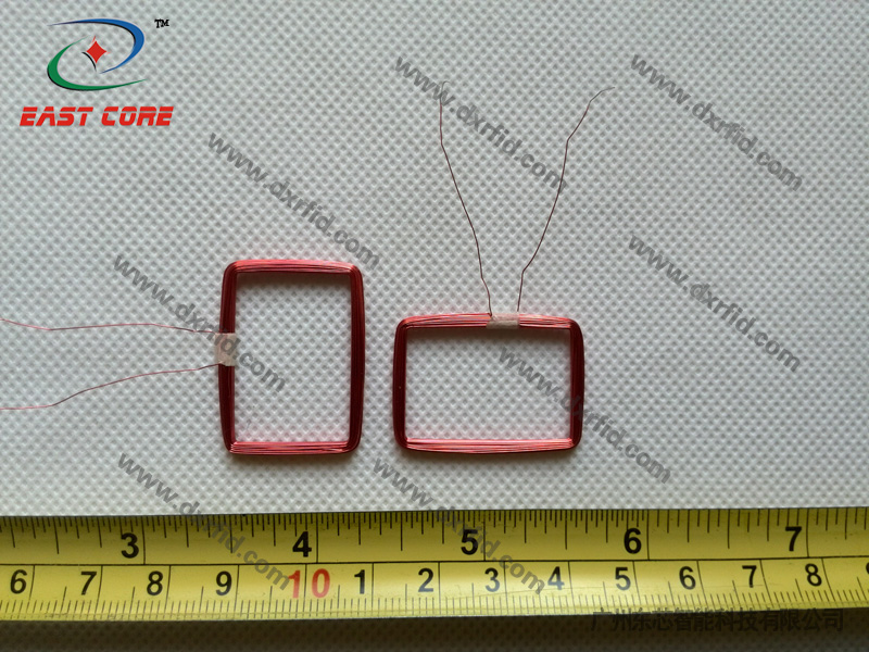 ID reader coil square diameter 27*18mm outside diameter 30*22mm inductance 345uH-125KHz
