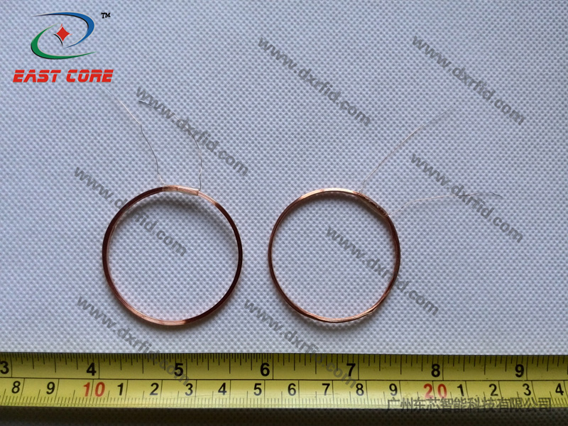 ID reader coil circular diameter 40mm outside diameter 42mm inductance 345uH-125KHz