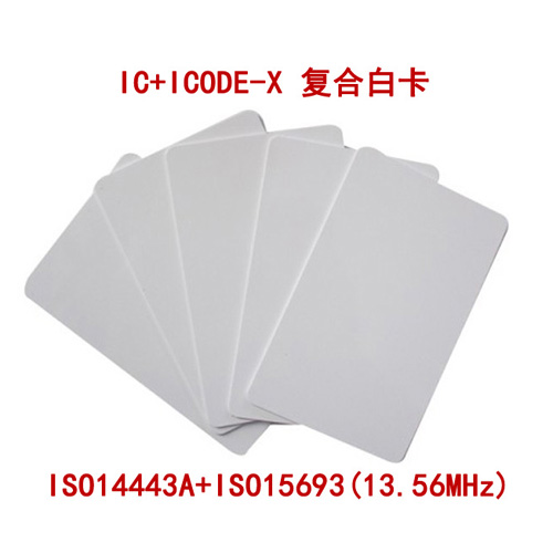 The IC card (ISO14443A card) +ICODE-X (ISO15693) HF high frequency dual protocol composite card card